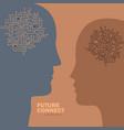 artificial intelligence human brain circuit vector image