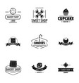 bake mart logo set simple style vector image