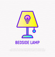 bedside lamp thin line icon vector image
