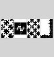 business puzzle covers pieces puzzles black vector image