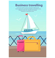 business travelling ship vector image vector image