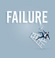 businessman painting the word failure vector image