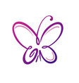 butterfly logo template vector image vector image