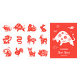 chinese new year chinese zodiac animals symbols vector image vector image