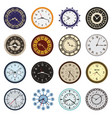 clock faces different design circle and arrows vector image vector image