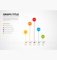 column vertical graph template vector image vector image