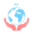 concept of saving the earth vector image