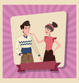 couple love family parents card vector image