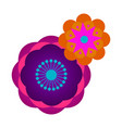decorative asian flower vector image vector image