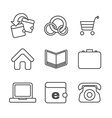 E-commerce thin line icons set vector image
