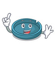 finger ashtray mascot cartoon style vector image