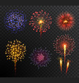 firework set multy-colored new year bright vector image vector image