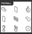 football outline isometric icons vector image vector image