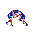 Freestyle Wrestling Retro vector image vector image