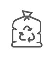 garbage bag trash garbage line icon vector image