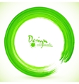 Green paintbrush circle frame vector image vector image