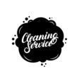 Hand written lettering Cleaning Service logo label vector image vector image