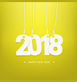 happy new year 2018 calendar cover template vector image