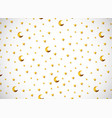 horizontal card pattern with gold cartoon stars vector image