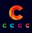 initial c logo template and inspiration vector image