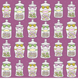 Jars with confections seamless pattern vector | Price: 1 Credit (USD $1)