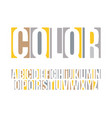 logo font color typography headline vector image vector image