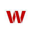 logo letter w vector image vector image