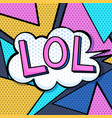 lol in memphis vintage style vector image vector image