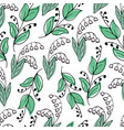 lovely hand-drawn seamless pattern with lilies vector image vector image