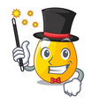magician golden egg with cartoon shape reflection vector image