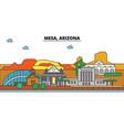 mesa arizona city skyline architecture vector image vector image