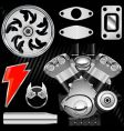 motorcycle part set vector image vector image