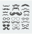 movember mustache set vector image