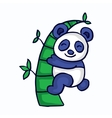 Panda with bamboo cartoon funny vector image