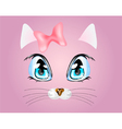 Pink background with kitty vector image