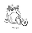 plum jamhand drawn ink sketch of vector image