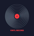 poster vinyl record music on vector image