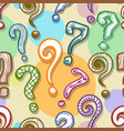 question mark background vector image vector image