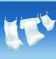 realistic detailed 3d clothes hanging out vector image