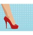 Red fashionable shoes on vector image vector image