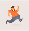 running fat man vector image