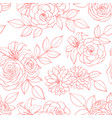 seamless pattern with rose lily peony flowers vector image vector image