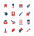 Set color icons of dental vector image vector image