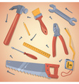 set different tools vector image