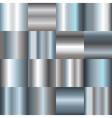 silver gradients vector image vector image