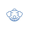 smiling clown emoji line icon concept smiling vector image vector image