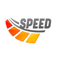 speed banner isolated icon with speedometer and vector image