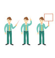 successful young businessman characters set vector image