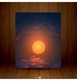 Sunset Sunrise With Clouds vector image vector image