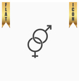 Twisted male and female sex symbol vector image vector image